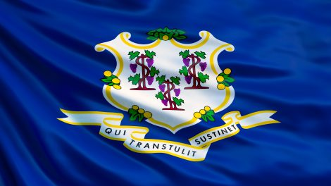 Connecticut flag. Connecticut is a state with legal Kratom.