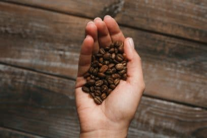 Coffee beans and Kratom