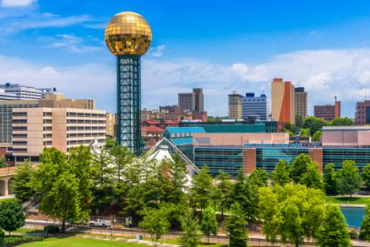 Knoxville TN near at World's Fair Park