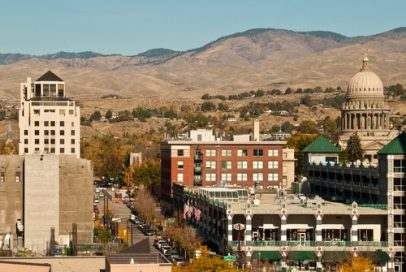 Downtown Boise, Idaho where you can buy Kratom.