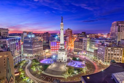 Downtown Indianapolis, Indiana.