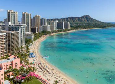 Honolulu Hawaii's coast.